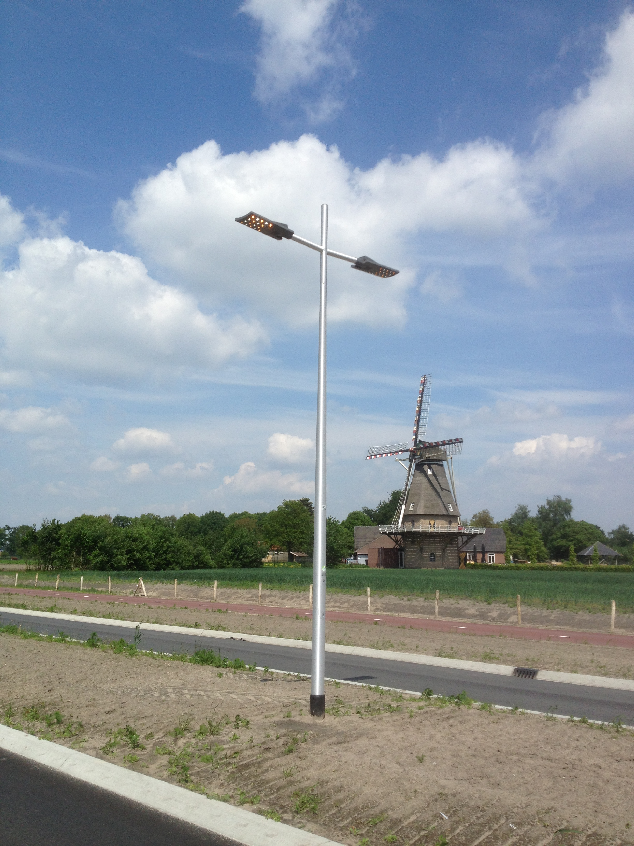 Aluminium lichtmast - Veldhoven - Nederland