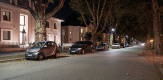 Straat verlicht met Osram